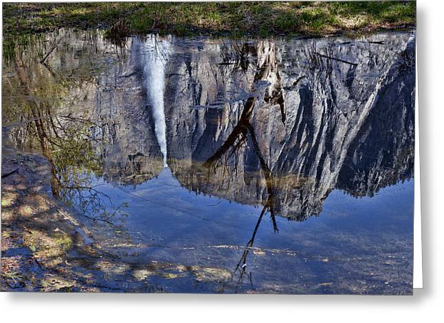 Falls Pool Reflection Greeting Card by Garry Gay