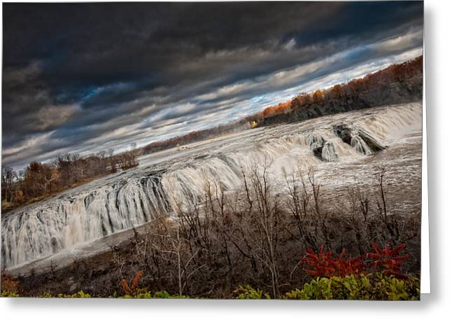 Colors Of Autumn Greeting Cards - Falls Power Greeting Card by Neil Shapiro