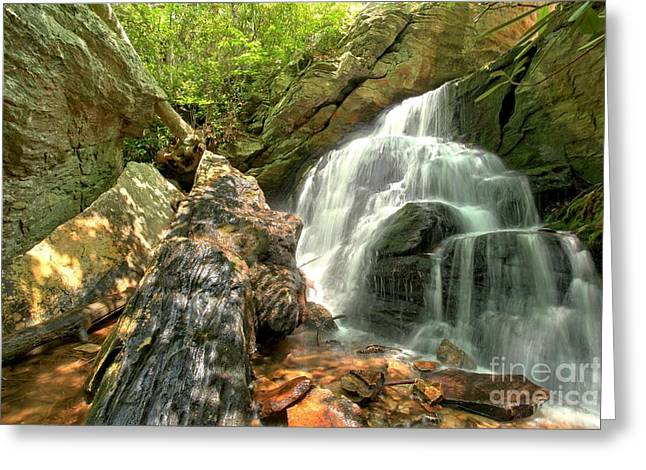 Ledge Photographs Greeting Cards - Falls Through The Rocks Greeting Card by Adam Jewell