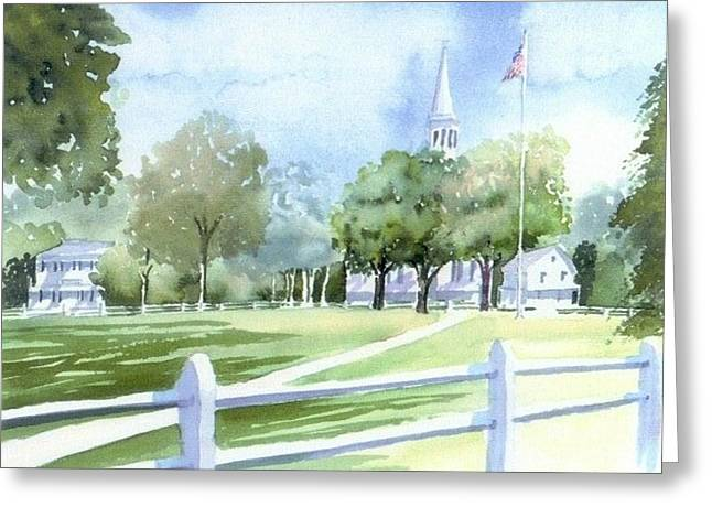Town Square Greeting Cards - Falmouth Tranquility Greeting Card by Joseph Gallant