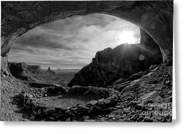 False Kiva Greeting Card by Keith Kapple