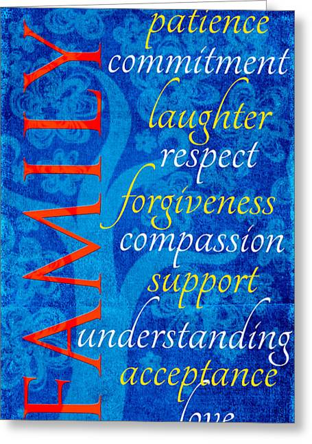 Forgiveness Digital Art Greeting Cards - Family  Greeting Card by Bonnie Bruno