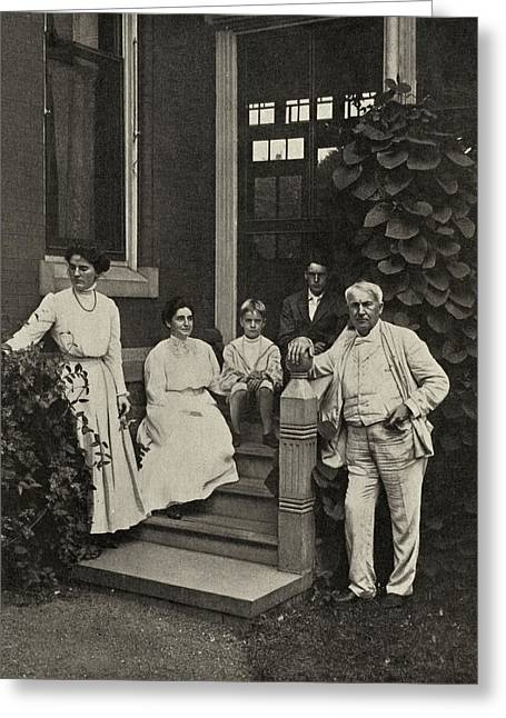 Edison Greeting Cards - Family Of Thomas Edison, Us Inventor Greeting Card by Humanities & Social Sciences Librarynew York Public Library