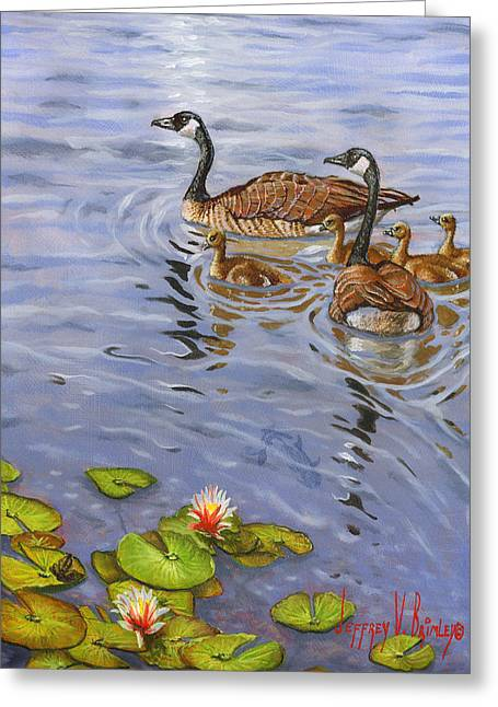 Family Outing Greeting Card by Jeff Brimley