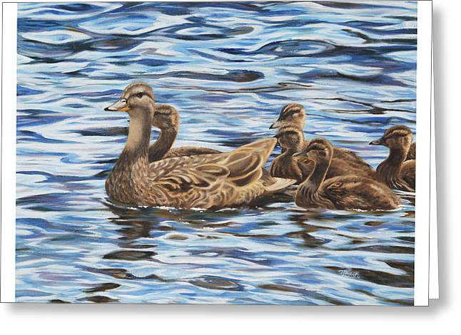 Ducklings Greeting Cards - Family Outing Greeting Card by Tammy  Taylor