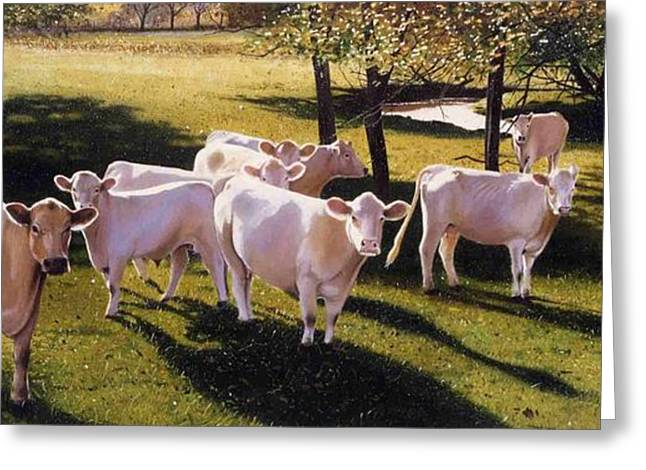 Photo-realism Greeting Cards - Family Portrait Greeting Card by Denny Bond