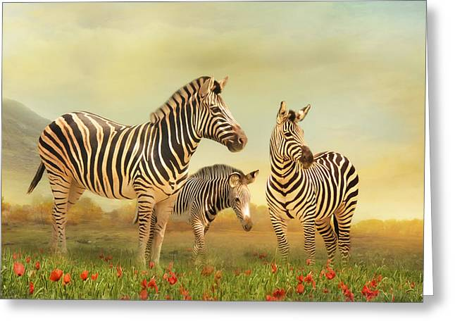 Family Ties Greeting Card by Trudi Simmonds