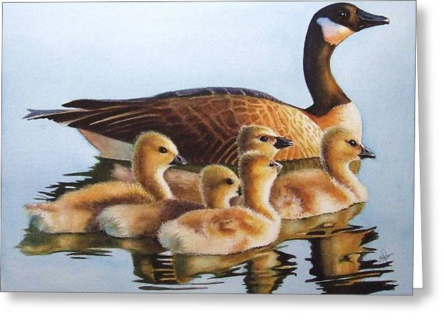 Mother Goose Greeting Cards - Family Time Greeting Card by Greg Halom