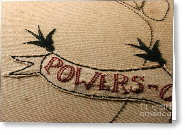 Roots Tapestries - Textiles Greeting Cards - Family Tree - Close-Up Greeting Card by Carolyn Powers