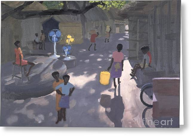 Marketplace Greeting Cards - Fan Seller Greeting Card by Andrew Macara