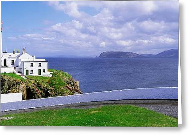 Ocean Panorama Greeting Cards - Fanad Head Lighthouse, Co Donegal Greeting Card by The Irish Image Collection
