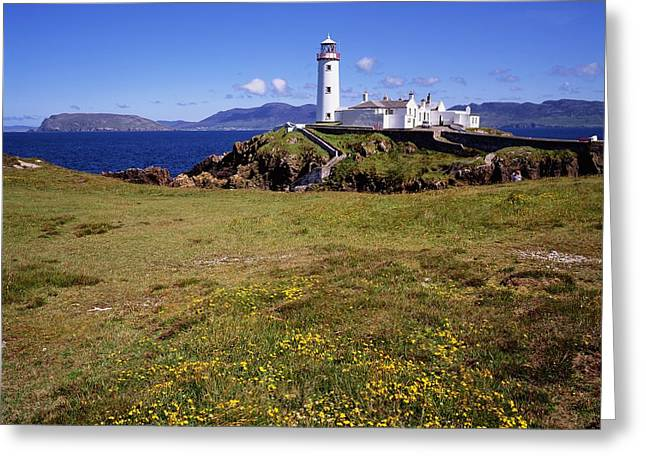 Head Harbour Lighthouse Greeting Cards - Fanad Lighthouse, Fanad Head, Co Greeting Card by The Irish Image Collection