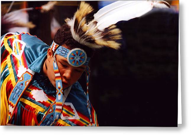 Fancy-dancer Greeting Cards - Fancy Dancer at Pow Wow Greeting Card by Bruce Ritchie