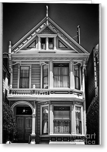 City Trip Greeting Cards - Fancy House ll - black and white Greeting Card by Hideaki Sakurai