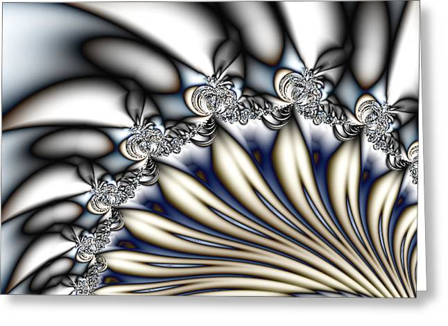 Fanfare - An Abstract Fractal Design Greeting Card by Gina Lee Manley