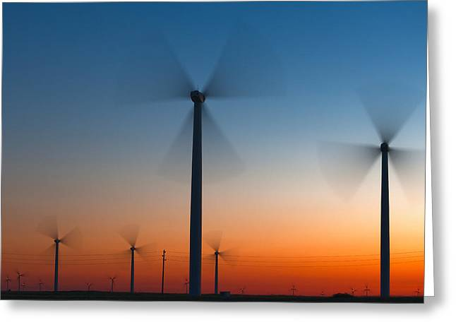 Generators Greeting Cards - Fans in Twilight Greeting Card by Evgeni Dinev