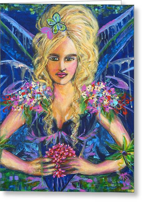 Ball Gown Greeting Cards - Fantashia Fae Greeting Card by Kimberly Van Rossum