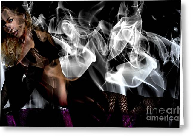 Bruster Greeting Cards - Fantasies In Smoke I Greeting Card by Clayton Bruster