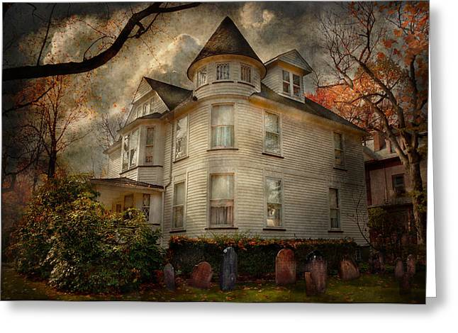 Present For You Greeting Cards - Fantasy - Haunted - The Caretakers House Greeting Card by Mike Savad