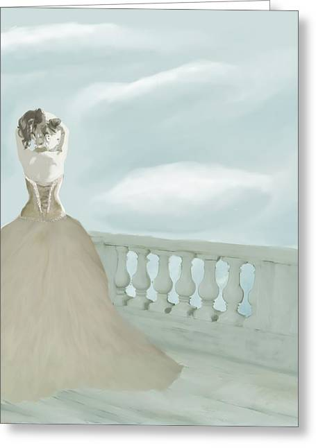 Fantasy Bride Greeting Card by Stacy Parker