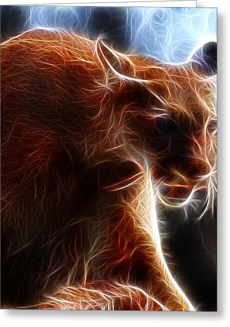 Large Cats Greeting Cards - Fantasy Cougar Greeting Card by Paul Ward