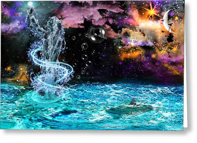 Twinkle Greeting Cards - Fantasy Greeting Card by Danielle Kasony