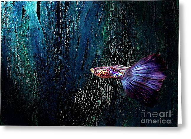 Fantasy Fish Art  Greeting Card by Mario Perez