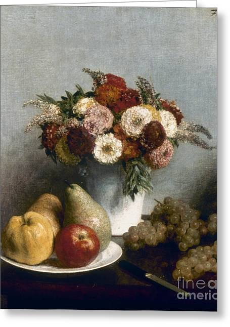 French Pears Greeting Cards - Fantin-latour: Fruits, 1865 Greeting Card by Granger