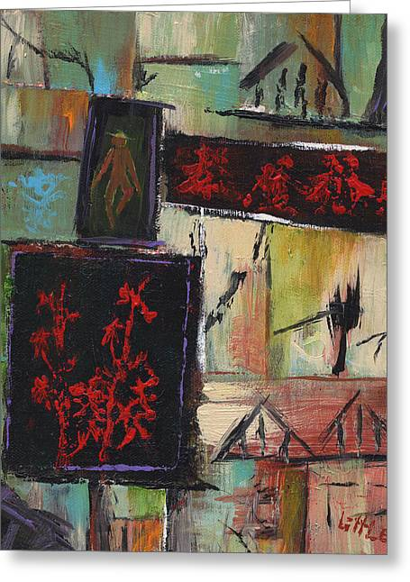 Bamboo House Greeting Cards - Far East Greeting Card by Jerry Little