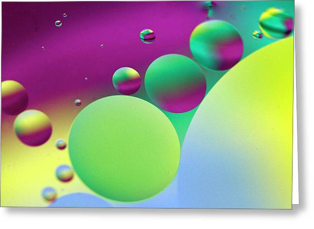 Abstract Globes Greeting Cards - Far Far Away Greeting Card by Rebecca Cozart