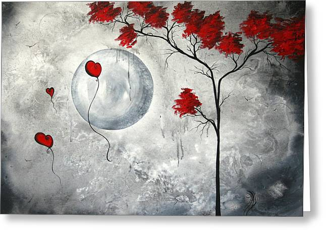 Gray Bird Greeting Cards - Far Side of the Moon by MADART Greeting Card by Megan Duncanson