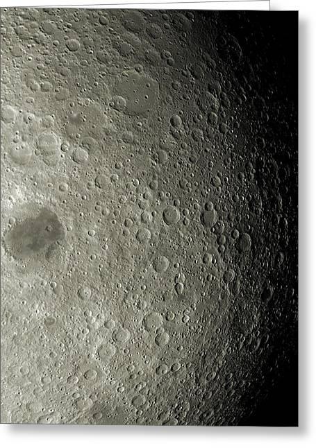 Selenology Greeting Cards - Far Side Of The Moon Greeting Card by Detlev Van Ravenswaay
