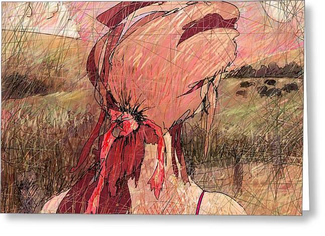 Legends Field Digital Art Greeting Cards - Faraway Greeting Card by Rachel Christine Nowicki