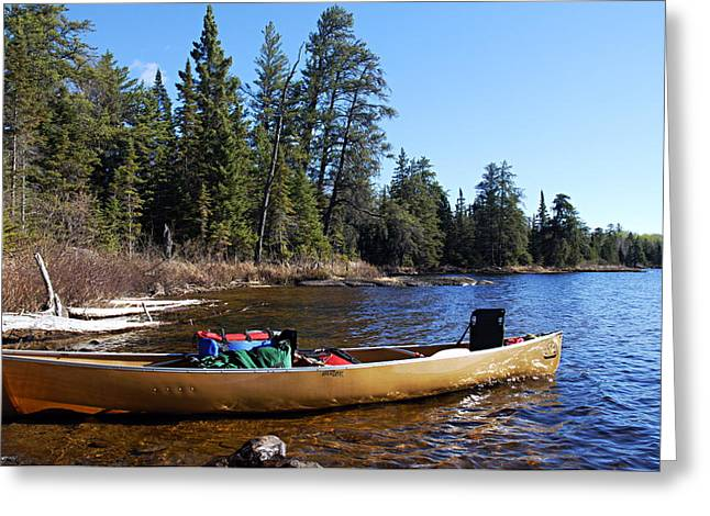 Boundary Waters Canoe Area Wilderness Greeting Cards - Farewell to Hope Lake Greeting Card by Larry Ricker