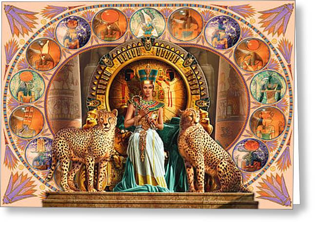 Ancient Jewelry Greeting Cards - Farley Egyptian Triptych Greeting Card by Andrew Farley