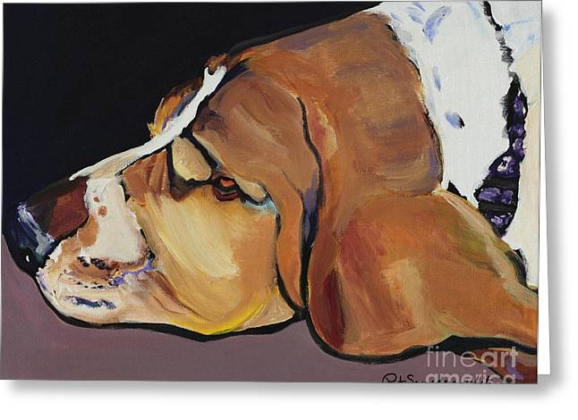 Farley Greeting Card by Pat Saunders-White