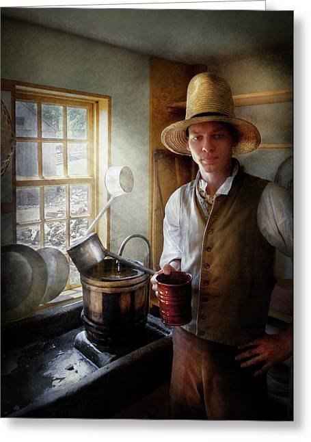 Customizable Greeting Cards - Farm - Farmer - The Farmer Greeting Card by Mike Savad