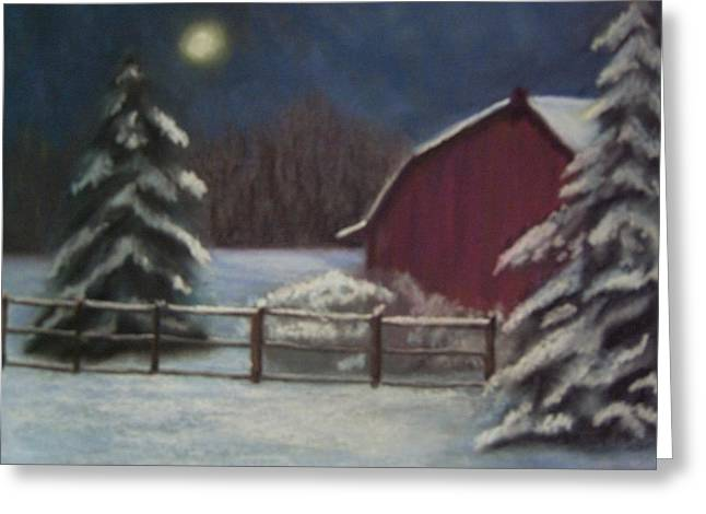 Dusk Pastels Greeting Cards - Farm At Twilight Greeting Card by Marcia Hero