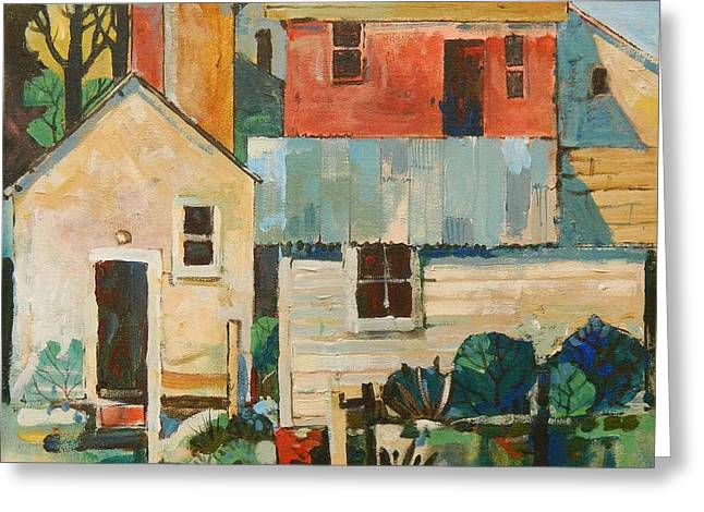 Outbuildings Greeting Cards - Farm Buildings Greeting Card by Micheal Jones