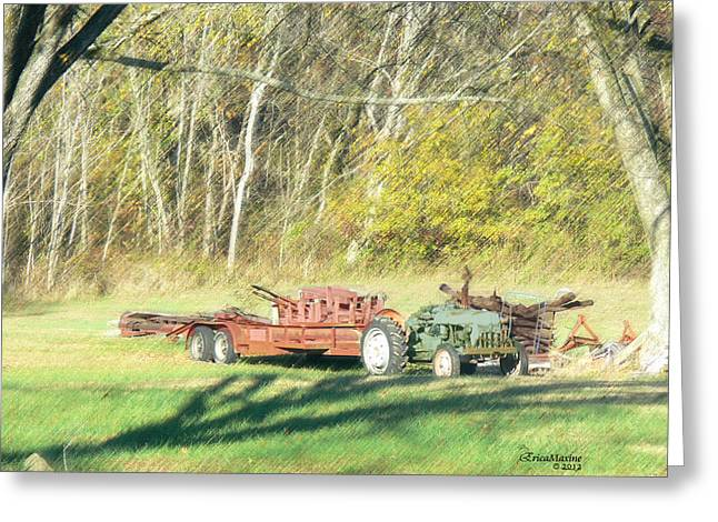 Tn Digital Art Greeting Cards - Farm Equipment Greeting Card by EricaMaxine  Price