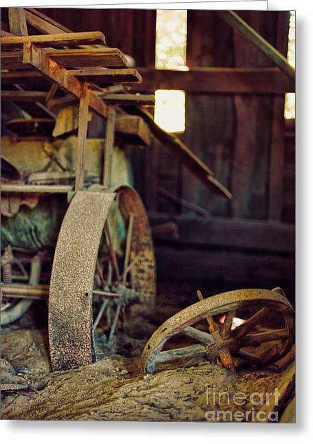 Old Grinders Greeting Cards - Farm Equipment Greeting Card by HD Connelly