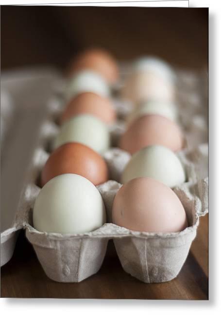 Local Food Photographs Greeting Cards - Farm Fresh Eggs Greeting Card by Ken Stigler