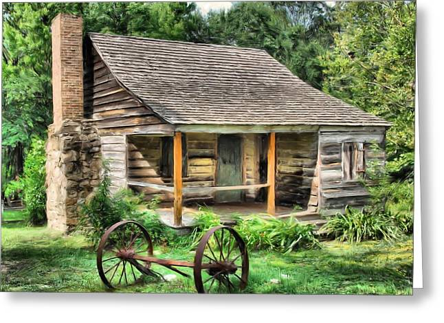 Old Wood Cabin Greeting Cards - Farm House Greeting Card by Steven Richardson
