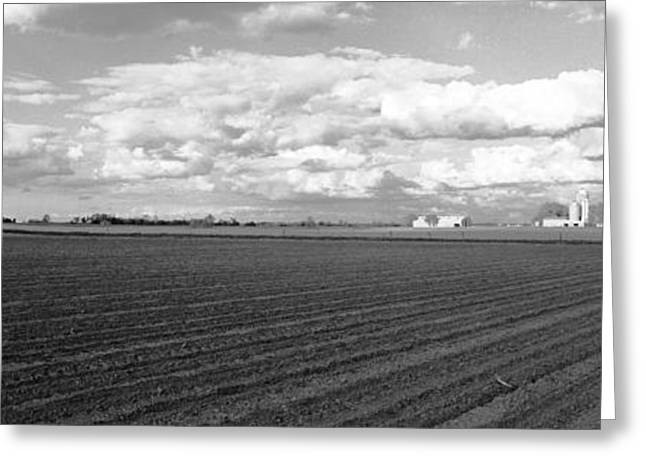 Farmers Field Greeting Cards - Farm on County ZZ Greeting Card by Jan Faul