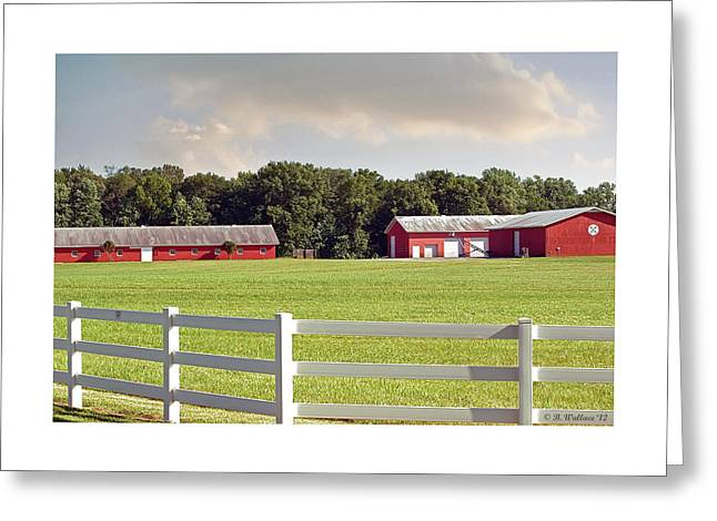 Centreville Greeting Cards - Farm Pasture Greeting Card by Brian Wallace