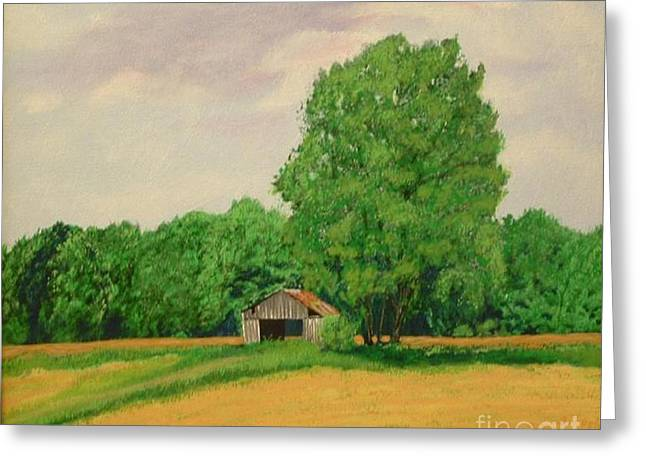 Old Relics Paintings Greeting Cards - Farm Relic Greeting Card by Robert Tittle