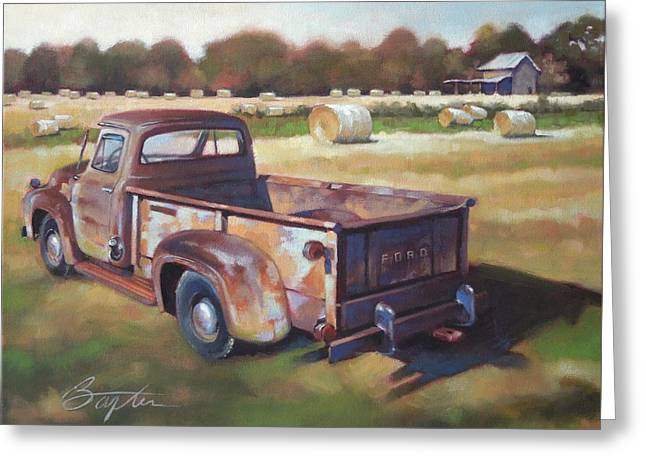 Recently Sold -  - Shed Greeting Cards - Farm Truck Greeting Card by Todd Baxter