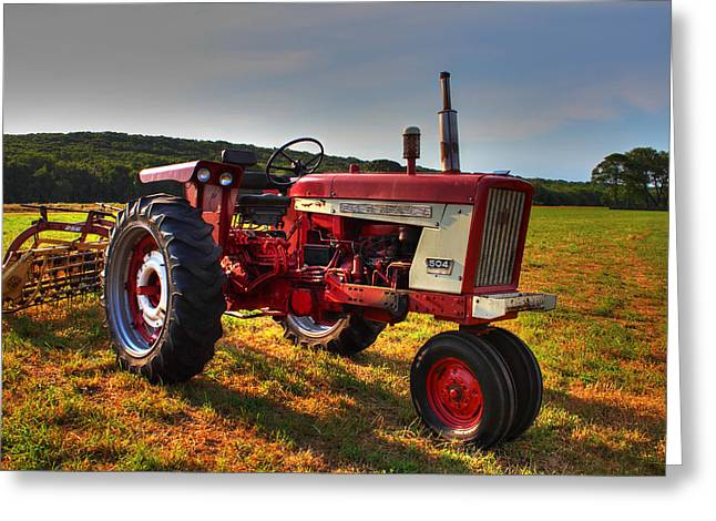 Pardon Greeting Cards - Farmall Tractor in The Sunlight Greeting Card by Andrew Pacheco
