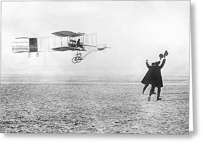 Aviation Pioneers Greeting Cards - Farman Aeroplane, 1909 Greeting Card by Library Of Congress