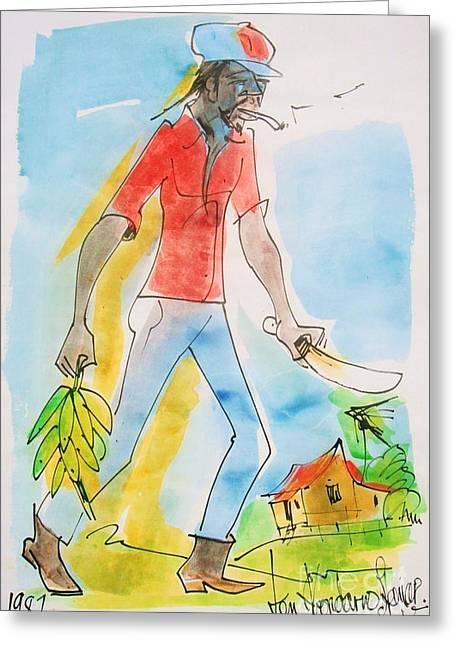 Farmer Greeting Card by Carey Chen